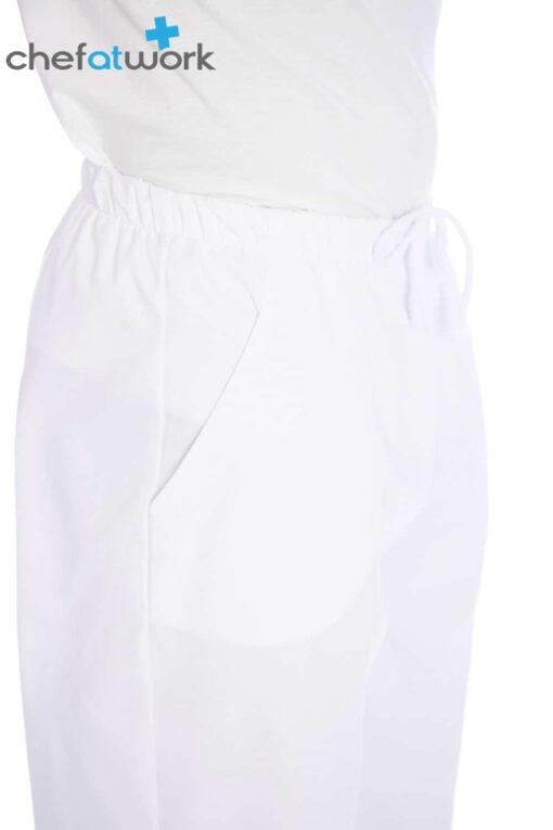 Calças Homem Branco Frente