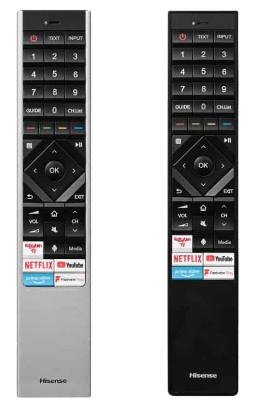 Mandos televisores Hisense ULED U8QF y U7QF