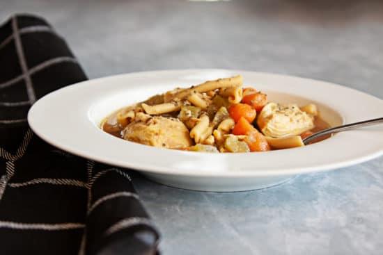 Chicken Chickpea Pasta Soup