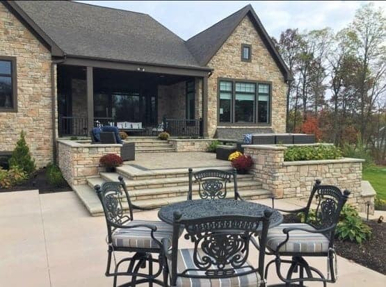 Beautiful outdoor dining and relaxing setting, just feet from the home.