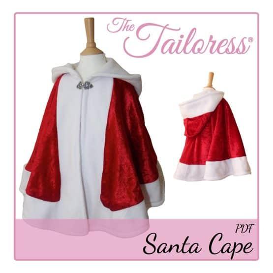 The Tailoress PDF Sewing Patterns - Father Christmas Santa Cape PDF Sewing Pattern