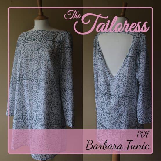 The Tailoress PDF Sewing Patterns - Barbara Tunic PDF Sewing Pattern