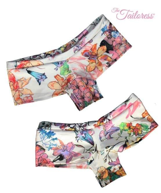 The Tailoress PDF Sewing Patterns - Kara Bikini Swimsuit Hot Pants Boy Shorts PDF Sewing Pattern