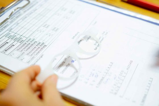 Auswertung von Testergebnissen einer funktionaloptometrischen Überprüfung