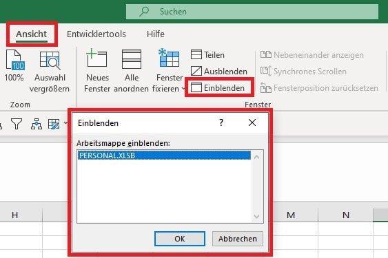 Excel Insights: persönliche Makroarbeitsmappe personal.xlsb einbelnden
