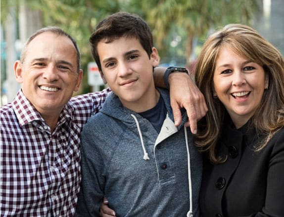 parents and teen