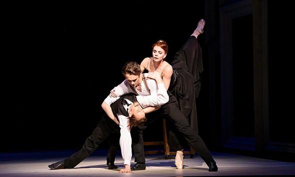 Edward Watson, Matthew Ball and Natalia Osipova in Strapless (photo: Bill Cooper)