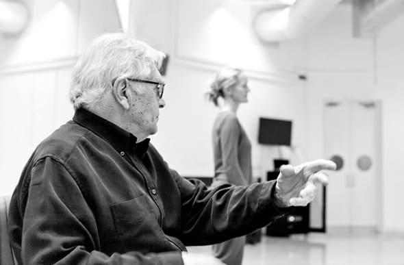 Robert Cohan and Yolande Yorke-Edgell in rehearsal (photo: © Pari Naderi)