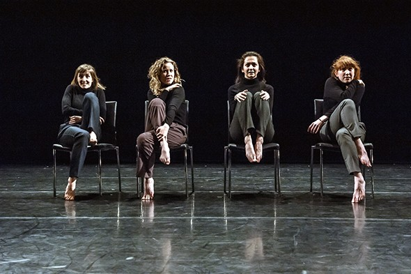 Kate Cox, Sofia Rebecca Holmberg and Rachel Fullegar in This Really Is Too Much (photo: Lidia Crisafulli)