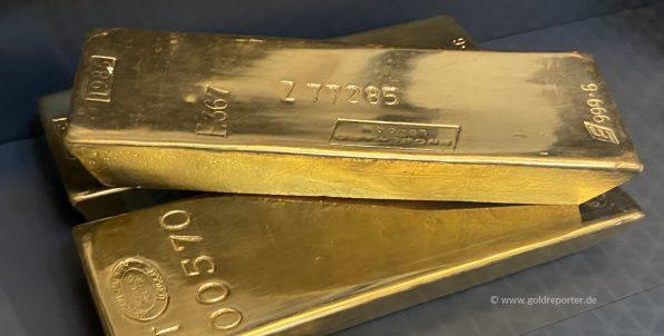 Gold, Goldbarren, Goldreserven (Foto: Goldreporter)