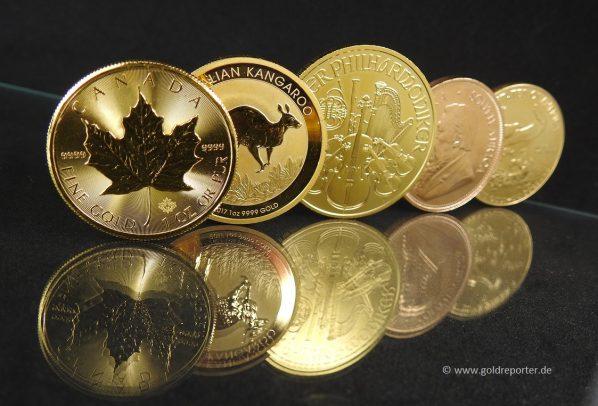 Gold kaufen, Goldmünzen (Foto: Goldreporter)