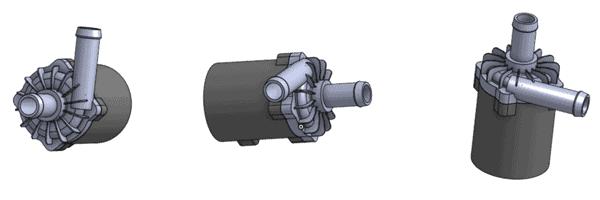 Allowed pump orientation