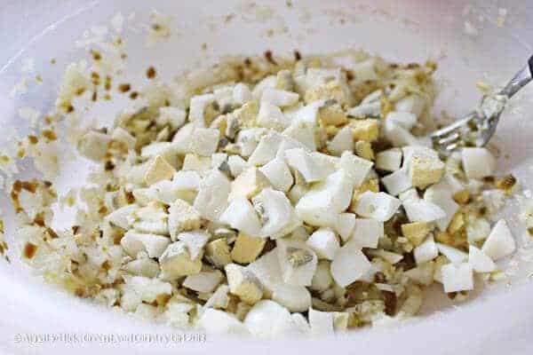 easy tuna salad diced onions, jalapeños, and boiled eggs