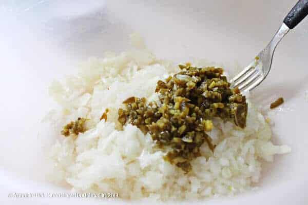 easy tuna salad diced onions and diced jalapeños