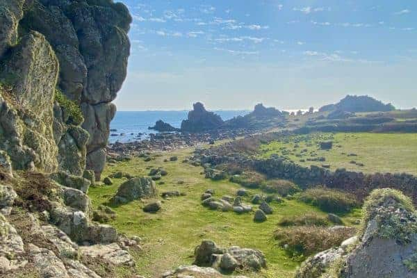 Granite rocks on south of St Agnes