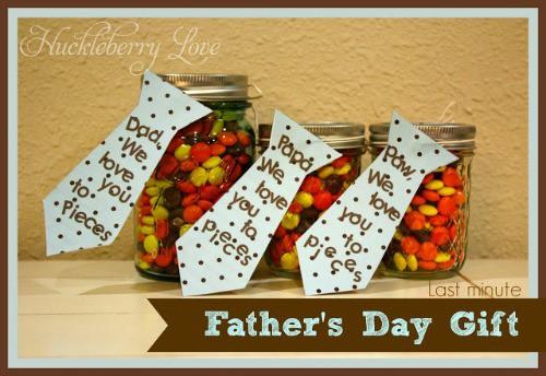 Fathers day mason jar craft