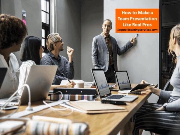 cover image for how to make a team presentation