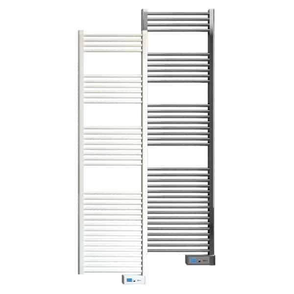 Rointe Elba Digital electric towel rail 1000W in white or chrome