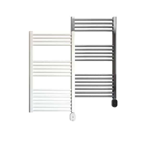 Rointe Giza Oval electric towel rail 300W in white or chrome