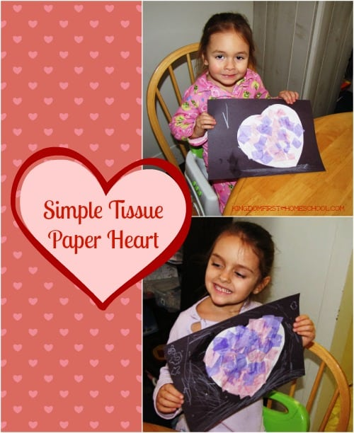 Simple Tissue Paper Heart