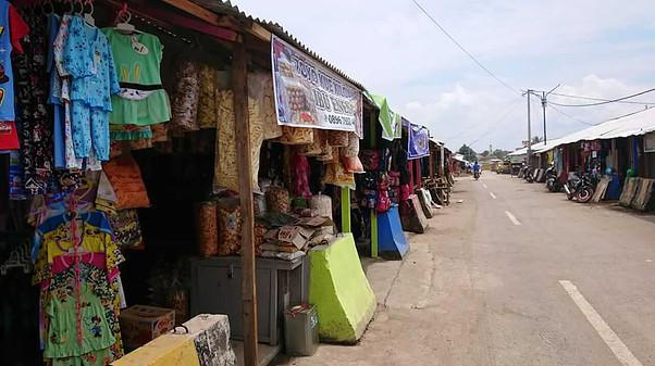 Suasana sepi pembeli Pasar Ciranjang