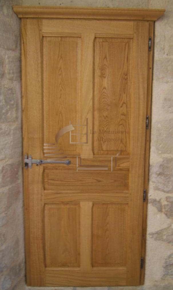 Porte intérieure en bois sur-mesure