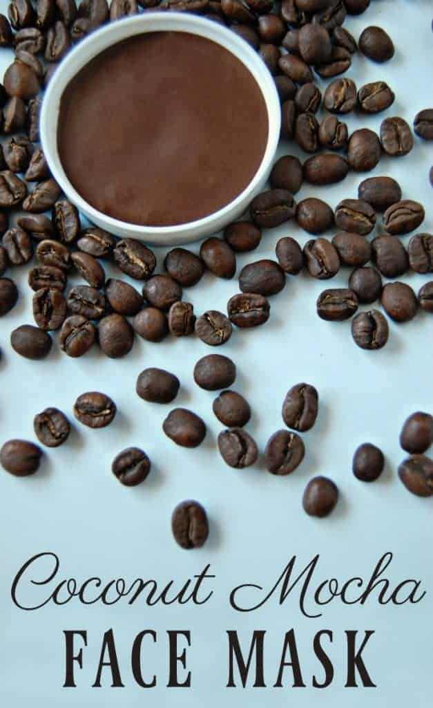 Chocolate, coffee, and coconut, what's not to love about that combination? This mask isn't all about the wonderful aroma however. This coconut mocha face mask has benefits and lots of them!  #facemask #coffee #mocha #caffeine #naturalskincare #greenbeauty