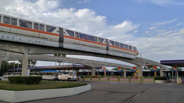 Walt Disney World Monorail Orange with Zootopia Overlay