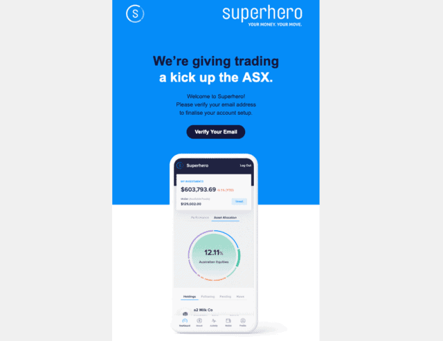 Superhero Email Verification