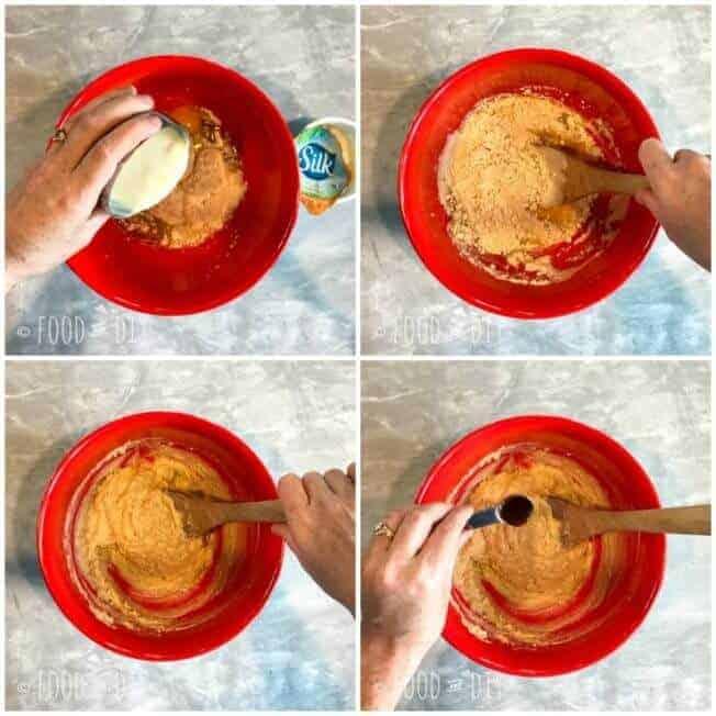 Peach & Mango Muffins. Made with Silk® Peach & Mango Dairy-Free Yogurt Alternative.