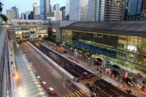 Central Station in Hong Kong