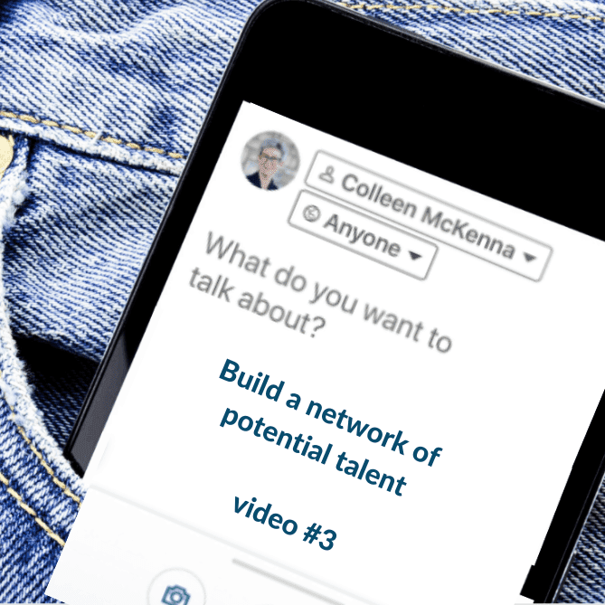 A phone that reads build a network of potential talent
