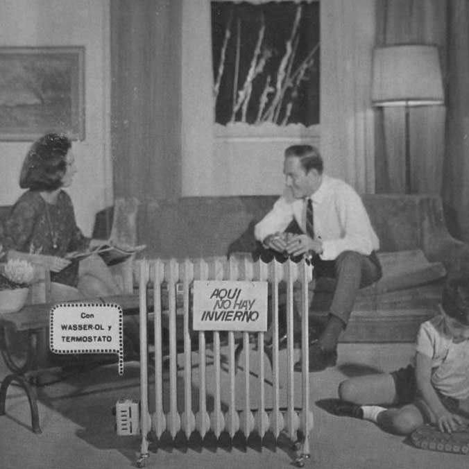 Old radiator advertising