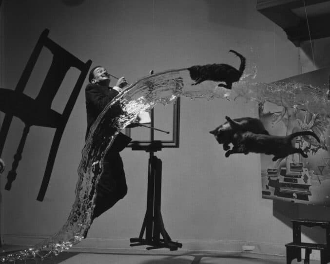 Dalí Atomicus, photo by Philippe Halsman, 1948