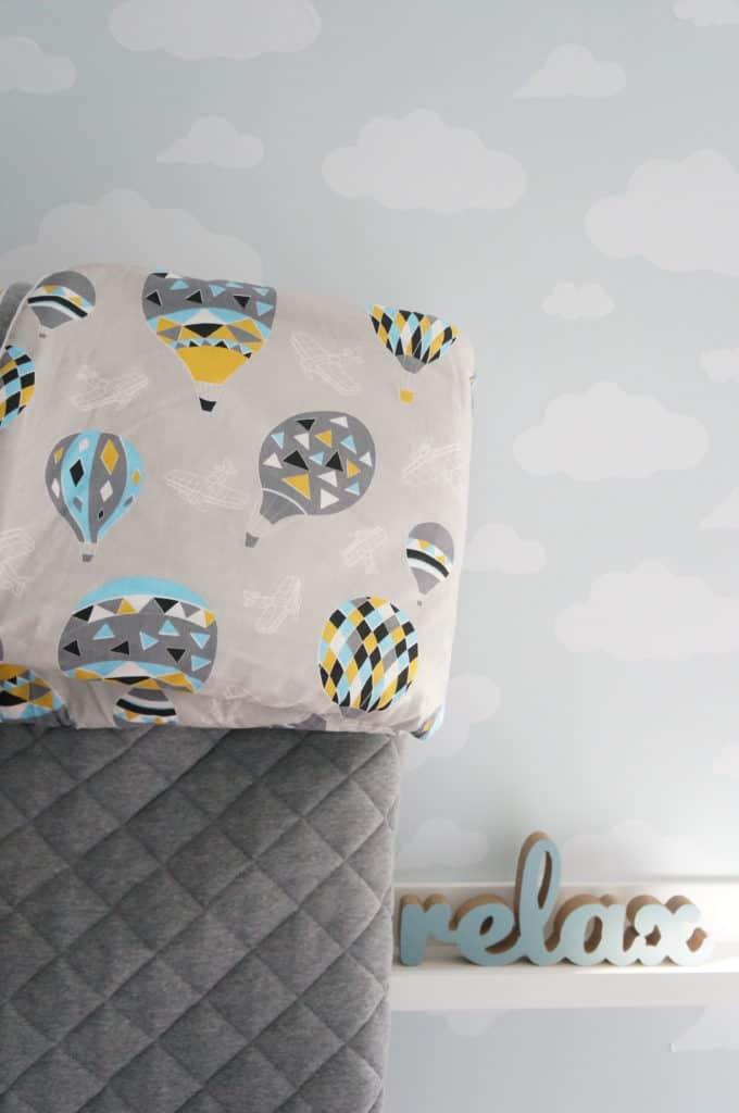śpiworek dla dziecka do łożeczka w balony