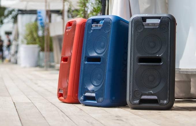 Gama altavoces Sony Extra Bass