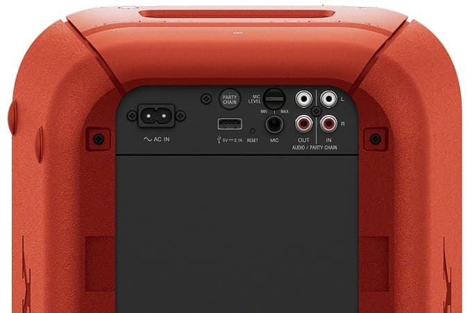 Conexiones Sony GTK-XB60 Extra Bass