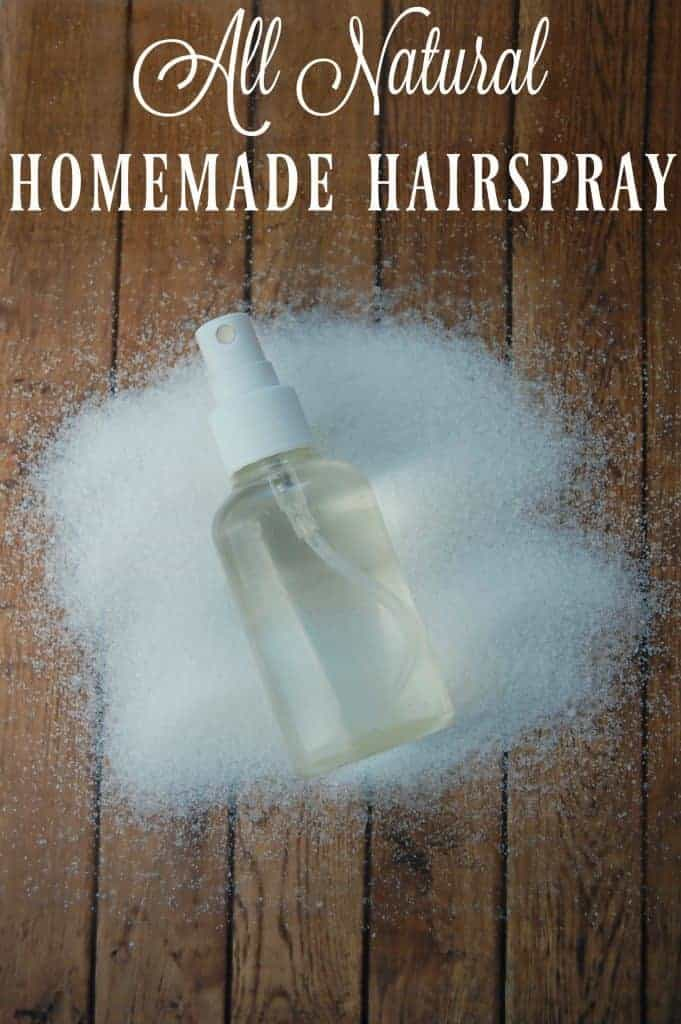 All Natural Homemade Hairspray - Just 3 ingredients that you likely already have in your house and you can make your own hairspray! No more toxic ingredients! #hairspray #naturalhaircare #haircare #nontoxic #homemade #easy