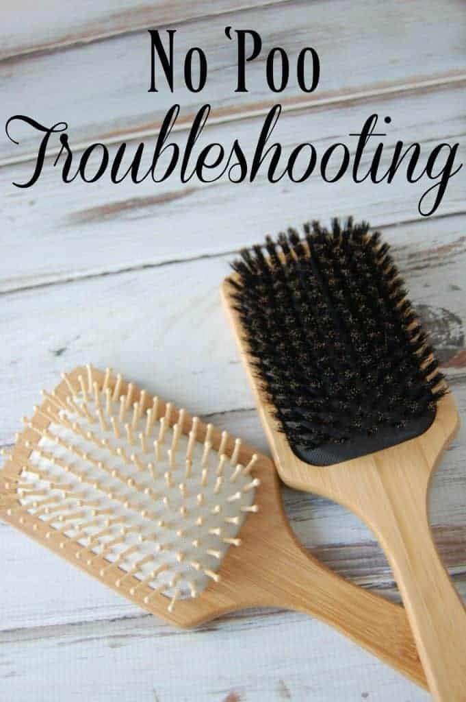 """Have you tired going """"no 'poo"""" but you've got a few issues? Check out this no 'poo troubleshooting post! #nopoo #haircare #natural"""