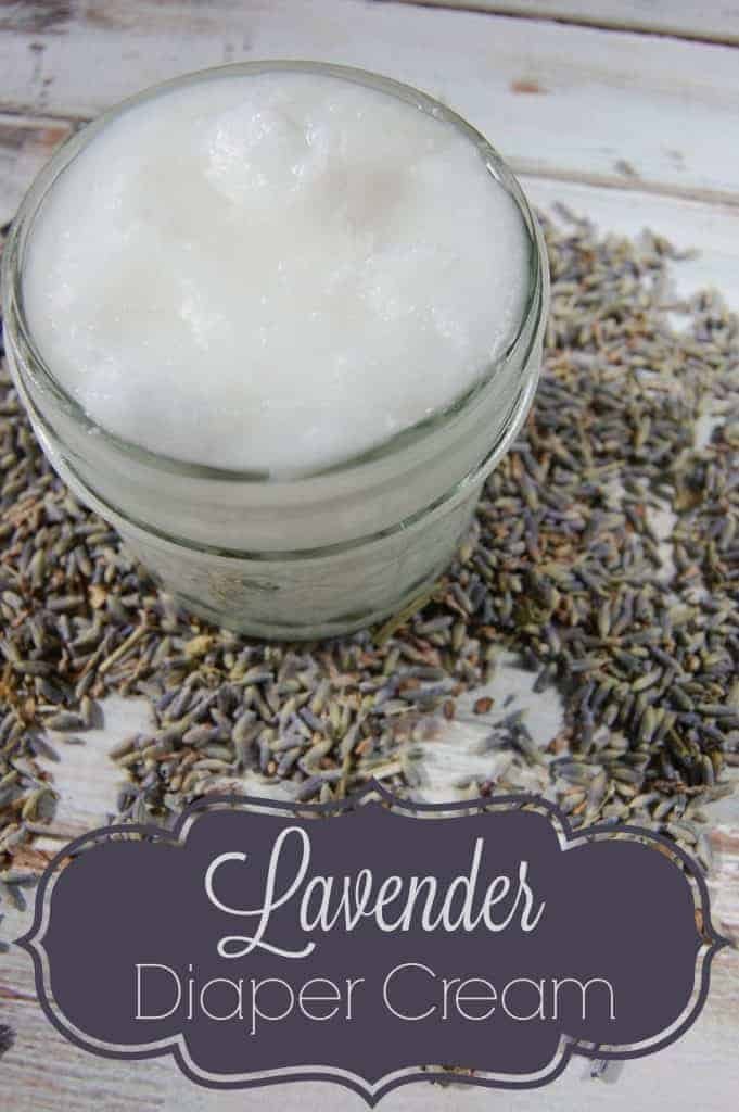 Making your own lavender diaper cream is not hard to do! Just two ingredients and a couple seconds of your time is all you need to make this great natural diaper cream! #lavender #diapercream #diaperrash #naturalparenting #naturalremedies #coconutoil