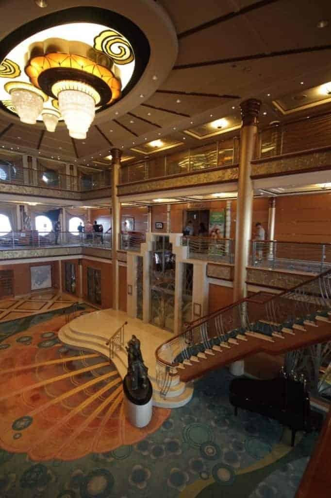 Disney Magic Lobby Transatlantic Cruise.