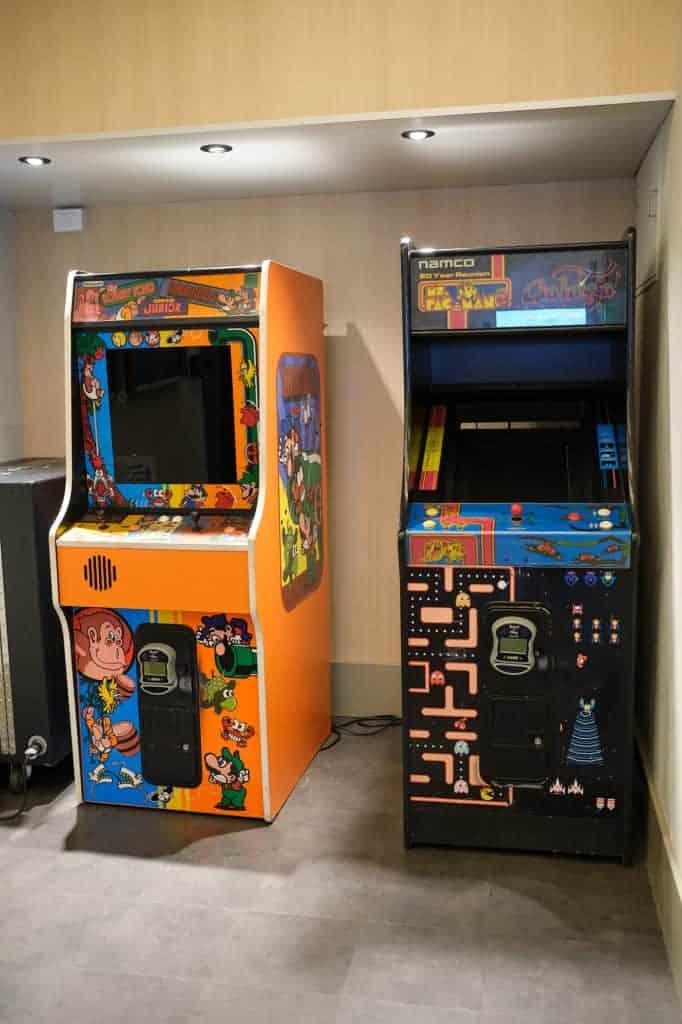 Arcade Games at Vibe Teen Club Pool Deck Disney Wonder San Juan to New Orleans