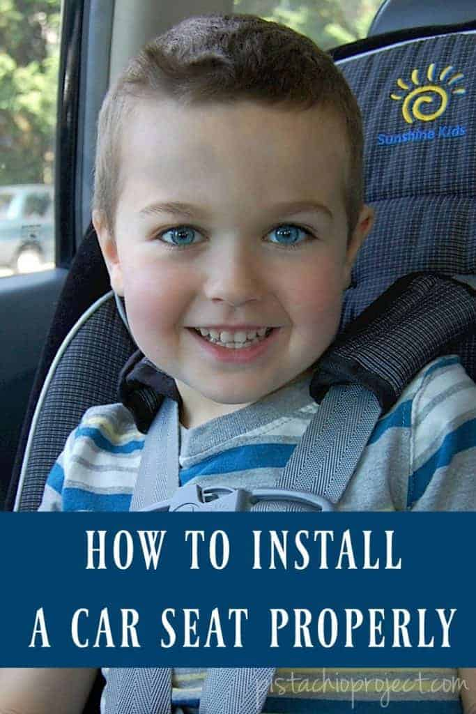 how to install car seat properly