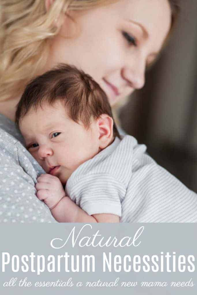 What natural postpartum necessities should you stock up on now for an easy postpartum? Here's the postpartum essentials that every new mom needs!
