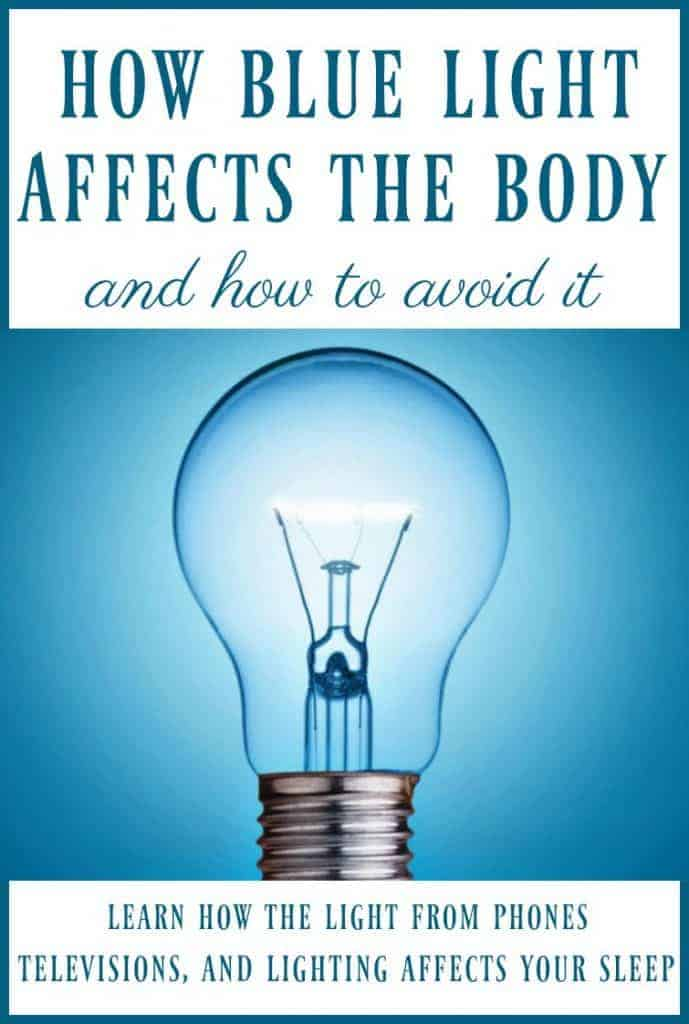 Did you know that the blue light that comes from our phones, televisions, screens, and lighting can mess with our circadian rhythms and interfere with our sleep?! Learn how blue light affects the body & how to avoid it so you can sleep better! #bluelight #circadianrhythm #sleep