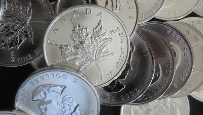 Silbermünzen, Maple Leaf (Foto: Goldreporter)