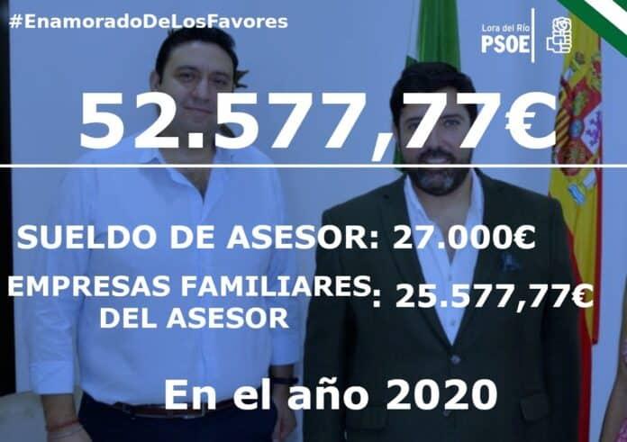 El PSOE de Lora del Río denuncia públicamente los tratos de favor en el Equipo de Gobierno de Antonio Enamorado