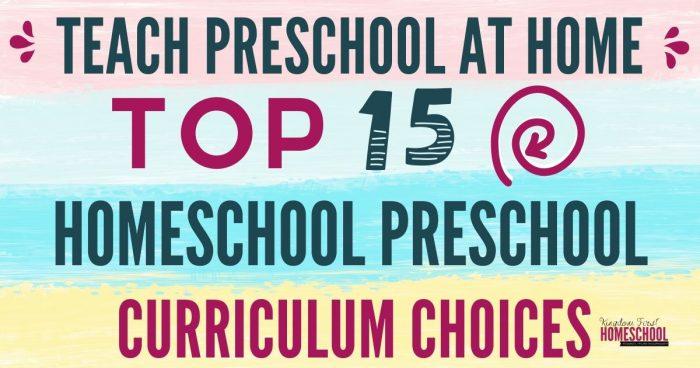 Top 15 Preschool Curriculum Choices