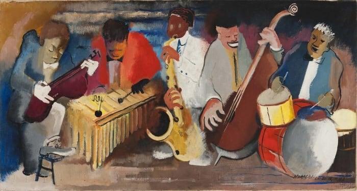 Harlem Renaissance. Norman Lewis, Jumping Jive, 1942.