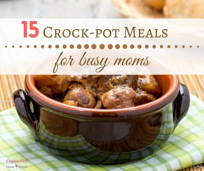 Crock pot meals are the ultimate busy mom-friendly meal! Something about starting the day ahead of the game makes me feel at ease on those busy days.